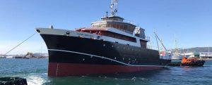 Pruebas de mar del oceanográfico Víctor Angelescu