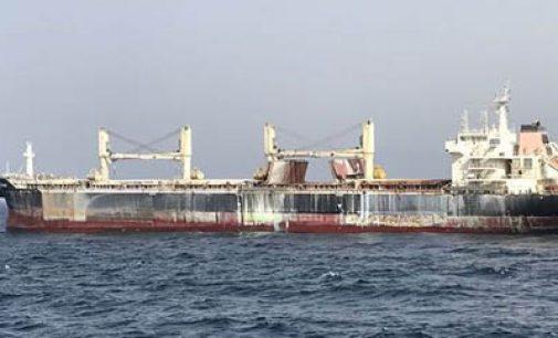 MV Cheshire: el granelero incendiado frente a Canarias
