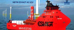 Zamakona construirá un nuevo SOV para Esvagt