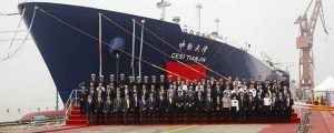 Se entrega el buque LNG CESI Tianjin