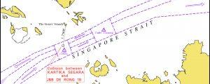 5 marineros desaparecidos tras el choque de dos buques en el Estrecho de Singapur