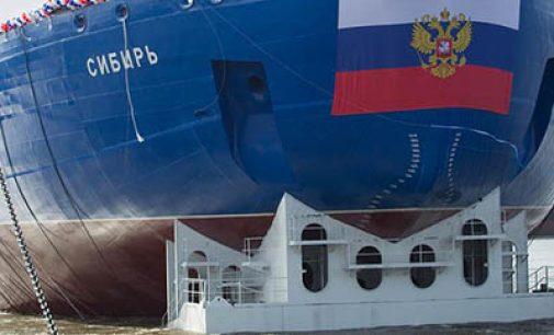 Vídeo de la botadura del rompehielos nuclear Sibir