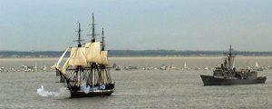 El buque de guerra más antiguo de EE.UU. vuelve al agua