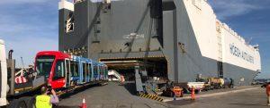 Pionero sistema de embarque de tranvías en el Puerto de Santander