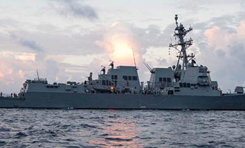 Entrega de US Ralph Johnson a la US Navy