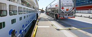 El AIDAperla repostará GNL en puertos del Mediterráneo