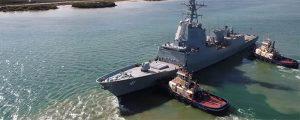 Pruebas de mar del segundo destructor para Australia