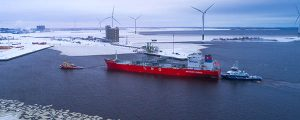 Primera importación de LNG al norte de Finlandia, a la terminal Manga LNG
