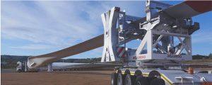 transporte pala aerogenerador por carretera
