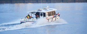 Catamarán Hydroville propulsado con hidrógeno