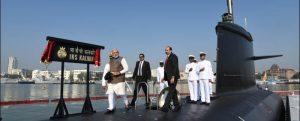 Entra en servicio el primer submarino clase Scorpene de la Marina de la India