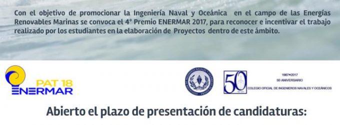 PREMIOS ENERMAR 2017: Tu proyecto de renovables puede ser premiado