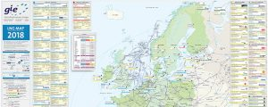 Mapa de las infraestructuras europeas de GNL de 2018