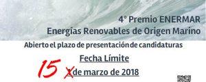SE AMPLIA EL PLAZO PARA LOS PREMIOS ENERMAR: Presenta tu proyecto de renovables
