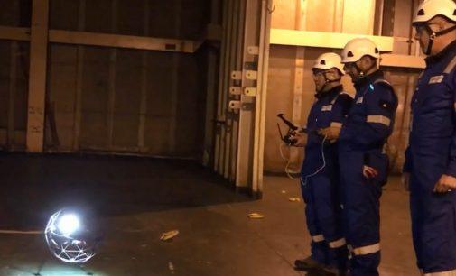 Inspección de buques con drones