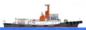 MOL bautiza el primer remolcador de GNL de Japón
