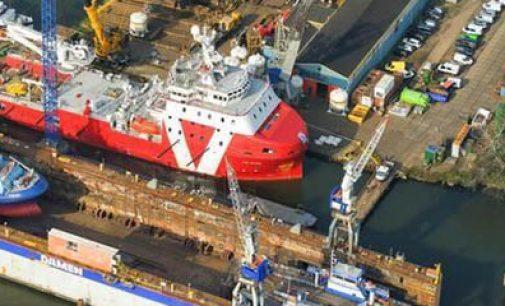 Damen finaliza el buque de apoyo W2W VOS Stone