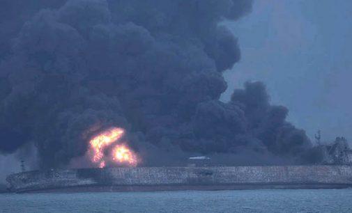 Accidente muy grave frente a las costas de China
