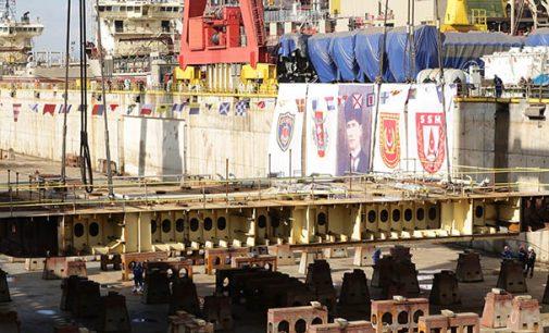 Puesta de quilla del buque anfibio turco diseñado por Navantia