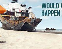Las playas siguen soportando el 80% de los desguaces