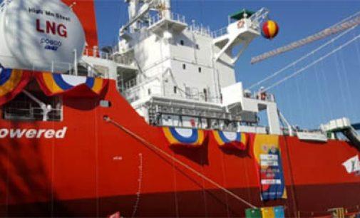 Se entrega el primer granelero propulsado mediante LNG
