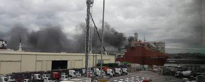 Living Stone se incendia en Santurtzi
