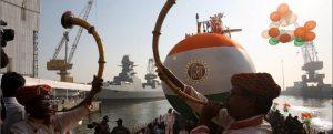 Botado el tercer submarino clase scorpene de la Armada de la India