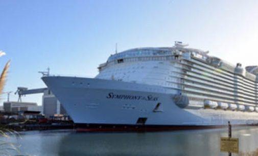 El crucero Symphony of the Seas finaliza las pruebas de mar