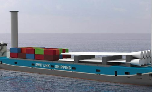 Nuevo diseño de buque de carga general con velas rotativas