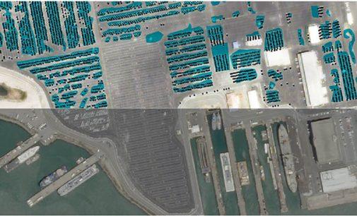 Imágenes satelitales del tráfico marítimo del puerto de Barcelona