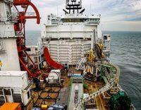 Primer tendido de cable en el Hornsea Project One