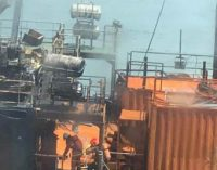 Se incendia el buque de perforación Geos