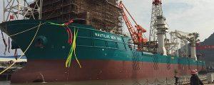 Botadura del PSV para la minería offshore