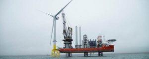 Instalación de los aerogeneradores de 8,8 MW en EOWDC