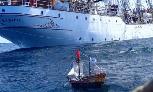 El barco pirata de playmobil consigue cruzar el Atlántico