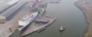 Flotadura del ferry a GNL Hypatia de Alejandría de Baleària