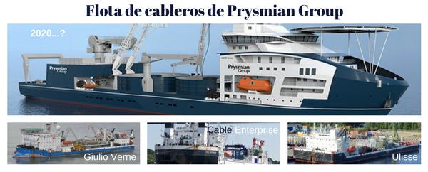 Flota de cableros de Prysmian Group