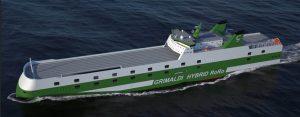 Así será el aspecto de los nuevos buques ro-ro de Grimaldi