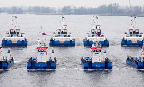 Damen entrega simultáneamente 19 unidades para Rusia