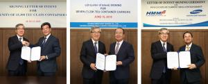 20 nuevos portacontenedores para tres astilleros surcoreanos contratados por HMM
