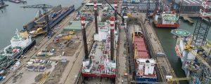 El buque jack-up MPI Enterprise luce nuevos apoyos en sus patas