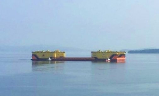 El astillero ruso Zvezda recibe su nuevo dique flotante