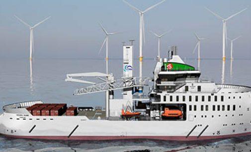 Corte de chapa del nuevo SOV para eólica offshore
