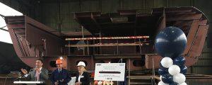 Puesta de quilla de los mayores buques fluviales para el transporte de butano de Europa