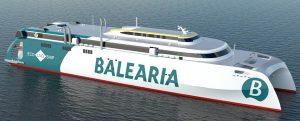 Baleària construye en España el primer catamarán de alta velocidad del mundo propulsado por motores a gas