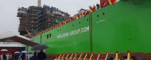 Botado en China el buque de instalación de parques eólicos offshore Orion