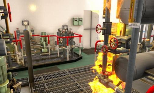Kongsberg presenta su simulador de lucha contra incendios a bordo de un buque