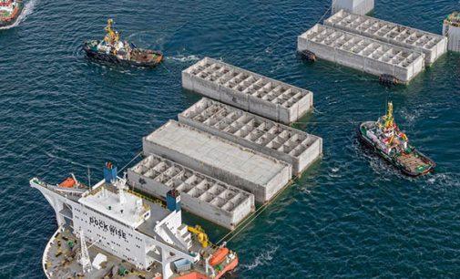 Comienza la construcción del puerto sur de Aberdeen