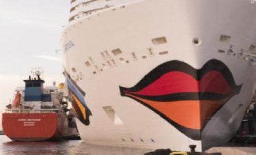 Coral Methane realiza su primer bunkering al primer crucero propulsado por LNG del mundo