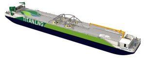 Proyectada una nueva pontona de bunkering de LNG para el puerto de Amberes